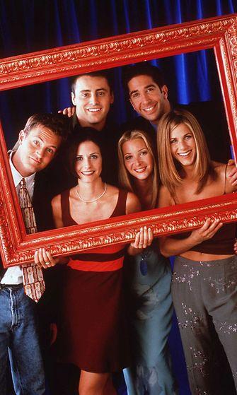 Frendit, 1998. Matt LeBlanc, David Schwimmer, Matthew Perry, Courteney Cox, Lisa Kudrow & Jennifer Aniston.
