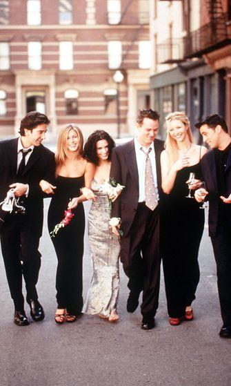 Frendit, 1999. David Schwimmer, Jennifer Aniston, Courteney Cox Arquette, Matthew Perry, Lisa Kudrow ja Matt LeBlanc.