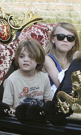Jack ja Lily-Rose Venetsiassa tammikuussa 2011.