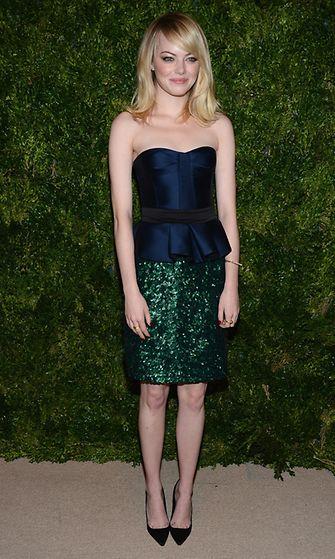 2012: Emma Stone CFDA/Vogue Fashion Fund Awards -muotigaalassa.