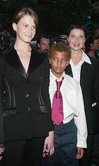 Rossellini tytär Elettra  ja poika Roberto elokuussa 2003.