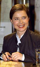 Isabella Rossellini tapasi fanejaan vuonna 2000 hymyssä suin.