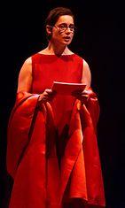 Rossellini esiintymässä V-DAY-tapahtumassa.
