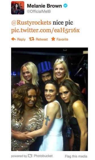 Spice Girls twittasi yhteiskuvan Russell Brandin kanssa olympialaisten aikaan.