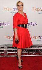 Meryl Streep, 63, Hope Springs -elokuvan ensi-illassa 2012.