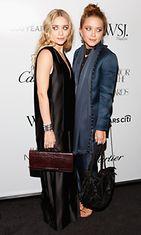 2012: Mary-Kate Olsen ja Ashley Olsen Vuoden Innovaattori -palkintogaalassa.