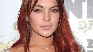 """12.10.2012: Lindsay Lohanin uusi punatukkainen """"look""""."""