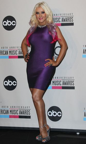 2012: Christina Aguilera American Music Awards -palkintogaalassa.