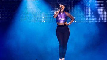 Alicia Keys esiintyi Helsingin Suvilahdessa Flow Festival -tapahtumassa perjantaina 10.8.2013.