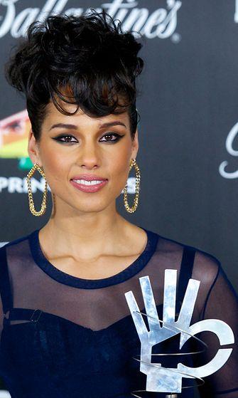 Alicia Keys 40 Principales Awards 2012 -tapahtumassa Madridissa, Espanjassa 24.1.2013.