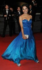 Näyttelijä Tannishtha Chatterjee Monsoon Shootout -ensi-illassa,  The 66th Annual Cannes Film Festival