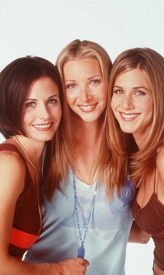 Courteney Cox, Lisa Kudrow ja Jennifer Aniston Frendit-sarjasta, 1997