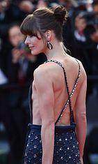 Milla Jovovich Cleopatra-elokuvan ensi-illassa 21.5.2013.