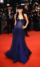 Näyttelijä Bai Ling Borgman-ensi-illassa,  The 66th Annual Cannes Film Festival