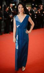 Tuomariston jäsen Naomi Kawase Wara No Tate -ensi-illassa,  The 66th Annual Cannes Film Festival