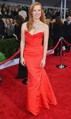 Jessica Chastain Screen Actors Guild Awards -gaalassa 2013.