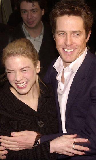 Renee Zellweger ja Hugh Grant, Bridget Jones - elämäni sinkkuna -elokuvan ensi-illassa, 2001