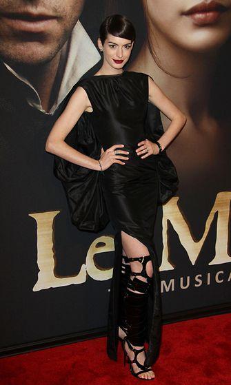 Anne Hathaway Les Misérables -elokuvan ensi-iltana New Yorkissa.