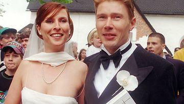 Erja Häkkinen ja Mika Häkkinen 1998