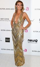 Heidi Klum Elton Johnin Oscar-juhlissa 2013.