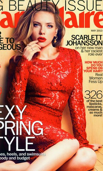 Scarlett Johansson Marie Claire -lehden kannessa