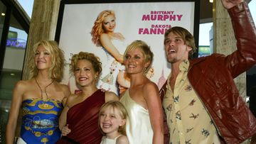 Heather Locklear, Brittany Murphy, Marley Shelton, Jesse Spencer ja Dakota Fanning Uptown Girls -elokuvan ensi-illassa, 2003