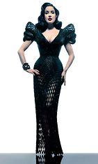 Dita Von Teese esitteli maailman ensimmäisen 3D-printatun mekon.