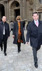 Louis Vuitton Pariisin muotiviikko 2013 Anna Wintour