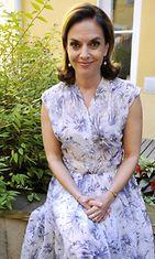 Kirjailija Anna-Leena Härkönen Otavan tiedotustilaisuudessa Helsingissä torstaina 19. elokuuta 2010.