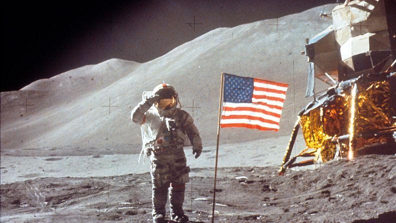 David Scott kuussa Apollo 15- tehtävän aikana.