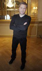 Samuli Edelmann Mission: Impossible – Ghost Protocol -lehdistötilaisuudessa tammikuussa 2012.