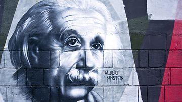 Albert Einsteinin graffiti Kroatiassa.