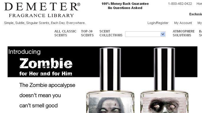 Demeter Fragrancen tuoksut nais- ja mieszombeille. Kuvakaappaus: Demeter Fragrance