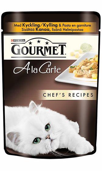 Gourmet A la Carte Kanaa, pinaattia ja helmipastaa