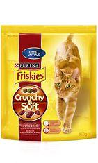Friskies Crunchy&Soft Naudanlihaa, Kanaa ja lisättyjä Kasviksia 800g