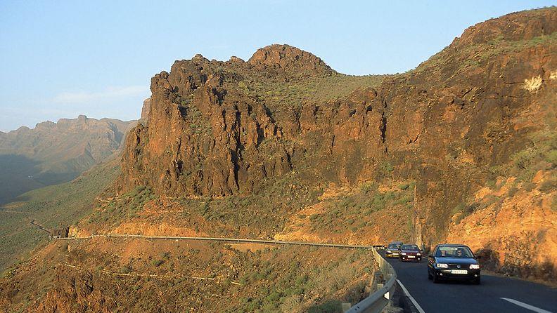 Gran Canarian näkymiä maanteiltä.