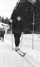 Presidentti Urho Kekkonen hiihtoretkellä Norjan-matkallaan maaliskuussa 1963.