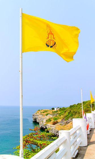 Keltainen on kuninkaan väri Thaimaassa.