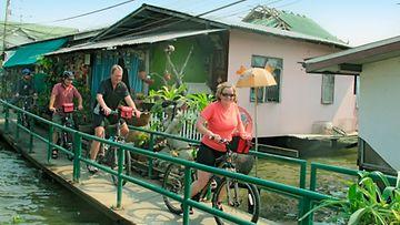 Tunnelmia pyörämatkalta Thaimaassa.
