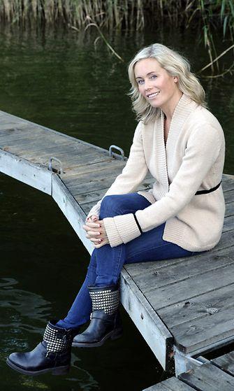 Anne Kukkohovi ilman meikkiä Helsingissä tiistaina 4. syyskuuta 2012.