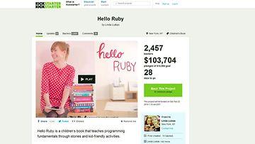 Kuvakaappaus Kickstarter-palvelusta