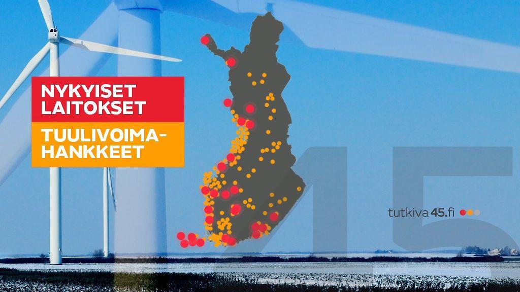Tuulivoimalat Suomessa Kartta