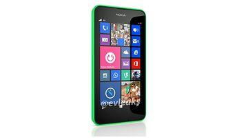 Väitetty kuva Nokia Lumia 630 -kännykästä. Kuvakaappaus Twitteristä / @evleaks