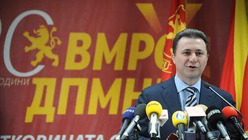 Makedonian pääministeri Nikola Gruevski.