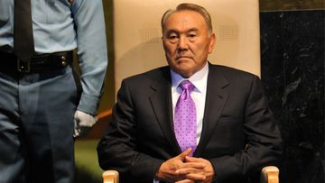 Kazakstanin presidentti Nursultan Nazarbajev.