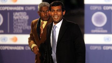 Mohamed Nasheed. EPA