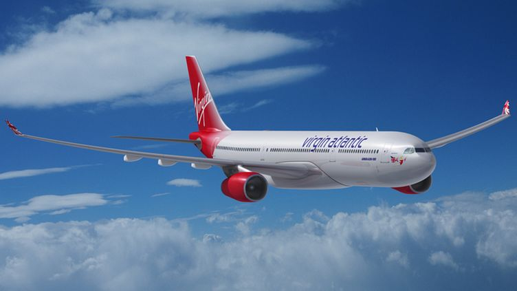 Virgin Atlantic -yhtiön kone.