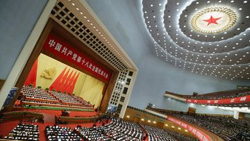 BEIJING, CHINA - NOVEMBER 08: China's leaders gather during the opening session of the 18th Communist Party Congress held at the Great Hall of the People on November 8, 2012 in Beijing, China. The Communist Party Congress will convene from November 8-14 and will determine the party's next leaders.
