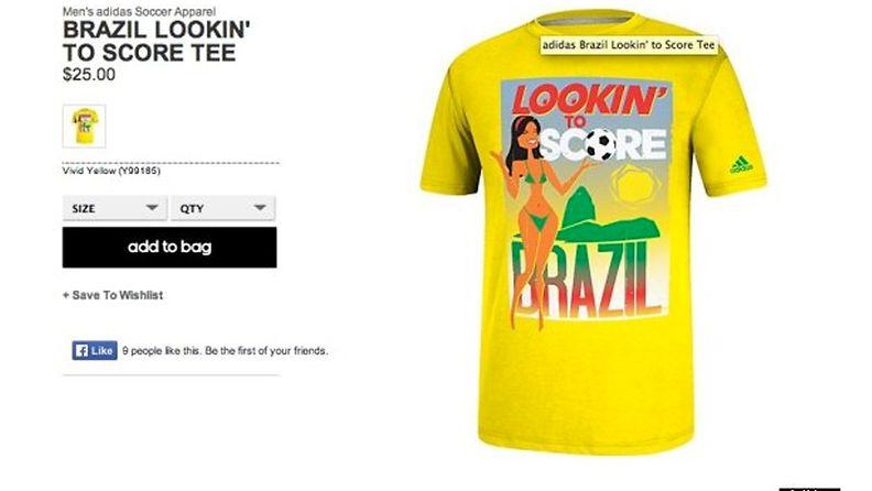 Huffington postin kuvakaappaus Adidasin nettisivuilta. Tuote on jo nyt poistettu myynnistä.