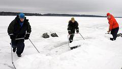 Lumipula haittaa saimaannorpan pesint��
